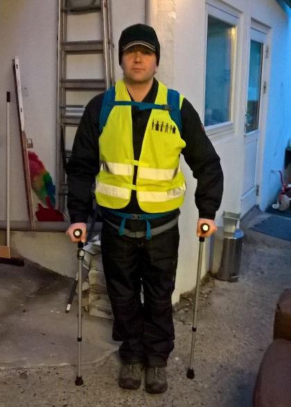 Frank Sørensen - Fyn rundt på krykker